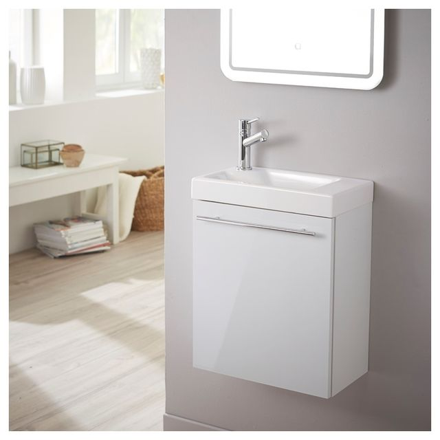planetebain meuble lave mains design blanc laqu pour wc