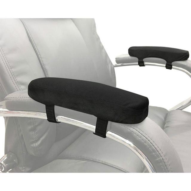 2 coussins d'accoudoir de chaise pour de bureau de coude souples protecteurs protège bras à manches longuescoussinet de coudecoussin de repos noir