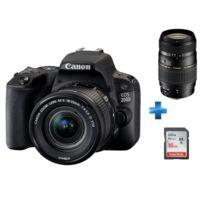 CANON - Appareil photo reflex 200D 18-55 + Carte SDHC Ultra 16 Go + TAMRON AF 70-300mm f/4-5.6 Di LD IF 1:2