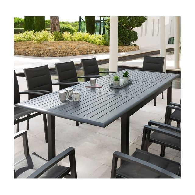 stunning table de jardin aluminium extensible hesperide. Black Bedroom Furniture Sets. Home Design Ideas