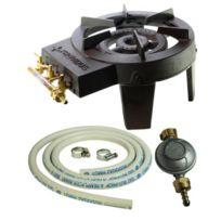 Providus - Pack complet réchaud gaz fonte 9.8 kW + tuyau gaz et détendeur butane - Stable et robuste