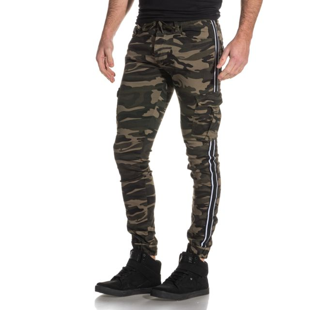 Project X Jogger pant cargo camouflage avec bandes contrastantes