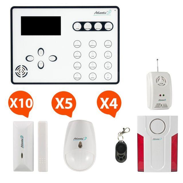 atlantic 39 s alarme sans fil de maison ateos kit extra pas cher achat vente alarme. Black Bedroom Furniture Sets. Home Design Ideas