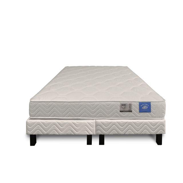 benoist belle literie ensemble 160x200 matelas sommier ressorts ensach s 5 zones pas cher. Black Bedroom Furniture Sets. Home Design Ideas