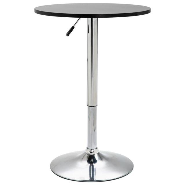 Splendide Tables selection Oulan-Bator Table de bar Noir Ø60 cm MDF