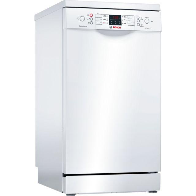 Bosch lave-vaisselle 45cm 9 couverts a+ pose-libre blanc - sps46iw01e