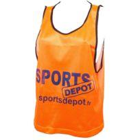 Les Fous Du Foot - Chasuble débardeur Sportdepot orangechasuble Orange 72826