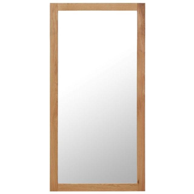 Vidaxl Miroir 60 x 120 cm Bois de chêne massif