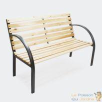 Banc En Bois Accoudoirs Design Pour Votre Jardin Terrasse Ou Balcon