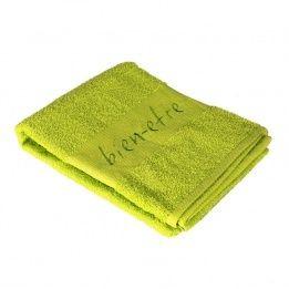 Marque generique serviette de bain 70 x 130 cm brod s bien tre vert anis pas cher achat - Serviette de bain carrefour ...