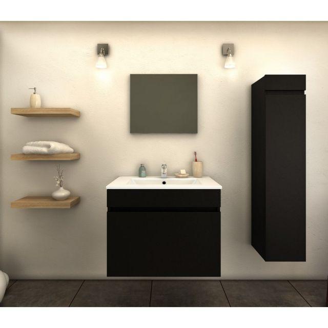 Ma Maison Mes Tendances - Meuble de salle de bain simple vasque 60 ...