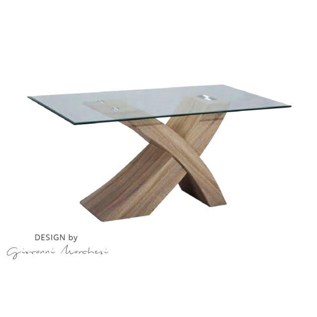 Giovanni Ensemble table de Repas Argos Chêne clair