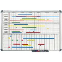 Hebel - Planning mensuel et annuel - tableau blanc 2 parties - 90 x 60 cm