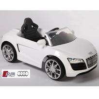 Audi - Voiture électrique enfant coupé R8 luxe à télécommande 12V Blanc