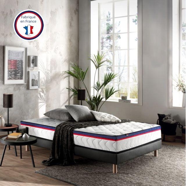 Incroyable Literie Fernand 90x190 | Mousse Soja haute qualité certifiée Hr 40 kg | Fabriqué en France | Ultra confort