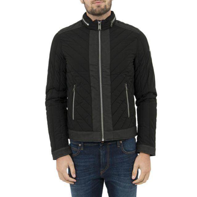 Guess - blousons et vestes jeans m74l38 new biker noir - pas cher Achat    Vente Blouson homme - RueDuCommerce 05cfa2982d1