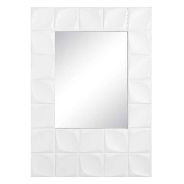 Ma Maison Mes Tendances Miroir en bois blanc 80x120 cm Oscar - L 80 x l 4.5 x H 120