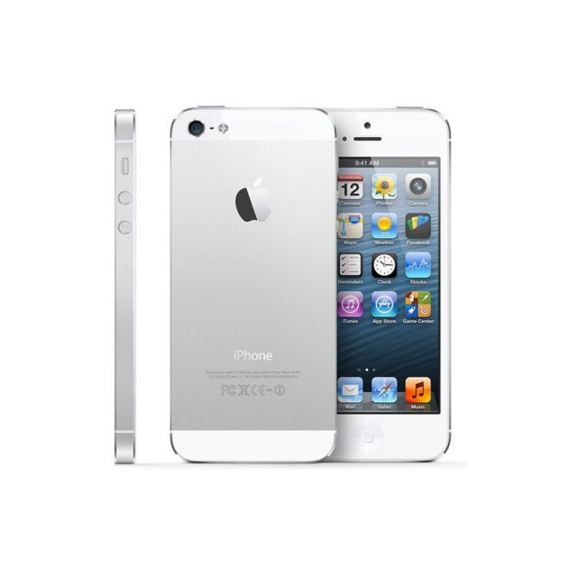 destockage apple iphone 5 blanc 16 go reconditionn pas cher achat vente smartphone. Black Bedroom Furniture Sets. Home Design Ideas