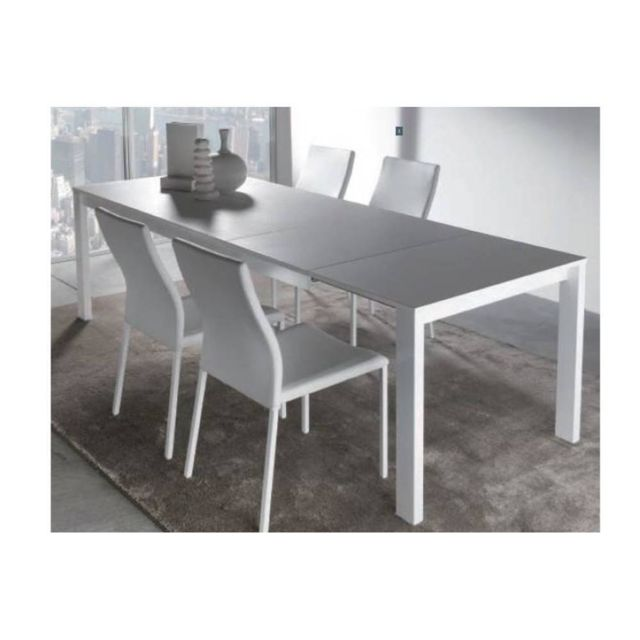 Inside 75 Table repas extensible Twelve 140 X 85 blanche