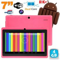 Yonis - Tablette tactile Android 4.4 KitKat 7 pouces Dual Core 4Go Rose
