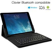 Karylax - Étui de Protection avec Clavier Intégré Azerty Français Connexion Bluetooth Universel L pour Tablette Huawei MediaPad M3 Lite 10 pouces Dimension 26,5 x 18,5 cm