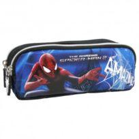 Spider-man - trousse d'école scolaire enfant garçon trousse de toilette 2 compartiments Disney