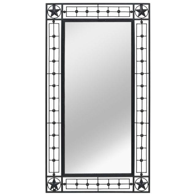 Vidaxl Miroir mural Rectangulaire 60 x 110 cm Noir
