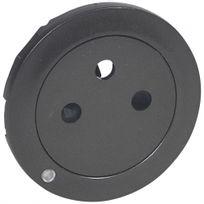Legrand - enjoliveur - prise de courant 2p+t à voyant - surface - céliane - graphite