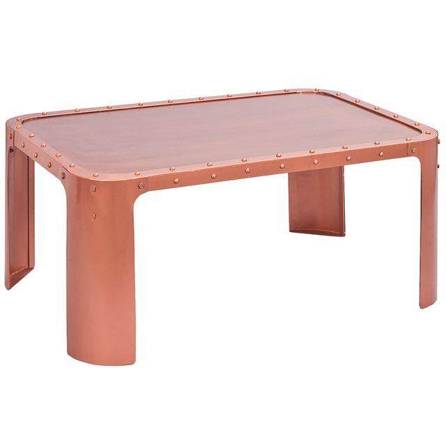 Altobuy Steel Cuivre - Table Basse Métal