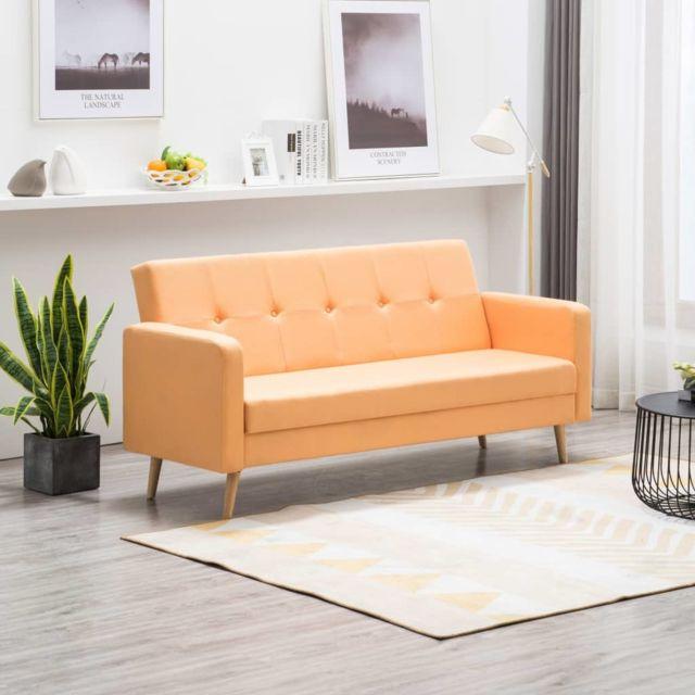 Vidaxl Canapé Tissu Orange
