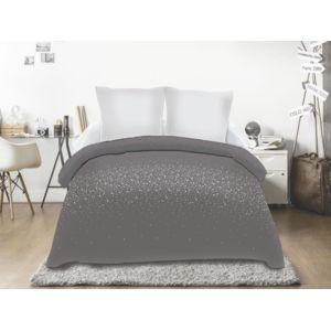soleil d 39 ocre couette imprim e 220x240 strass anthracite. Black Bedroom Furniture Sets. Home Design Ideas