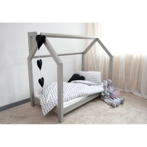 monlitcabane lit cabane c gris 90x180 sommier pas. Black Bedroom Furniture Sets. Home Design Ideas