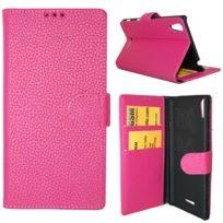 Lapinette - Etui Housse Portefeuille Pour Sony Xperia Z5 Premium - Rose