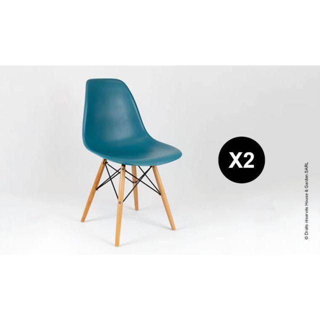 Design Petrole House Eiffel Garden Chaise En Bleu Pieds And Bois HIW92YDE