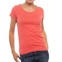 Newoutwear - T-shirt New OutWear L066066 R-neck Orange Corail
