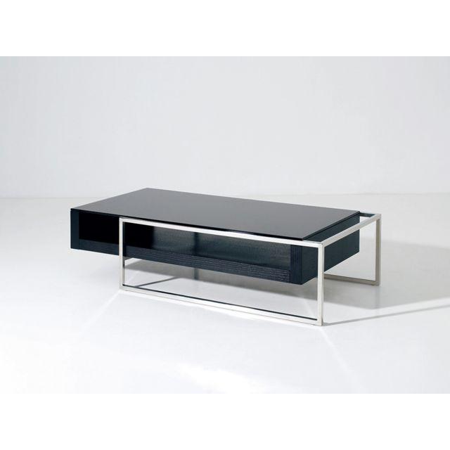 HABITAT ET JARDIN Table basse Julie - 130 x 63.8 x 33.7 cm - Noir