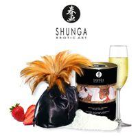 Shunga - Poudre de Corps Comestible Fraises & Vin Pétillant