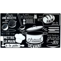 Cache Plaque De Protection De Cuisson Cuisine Collection Bistrot Rétro Verre