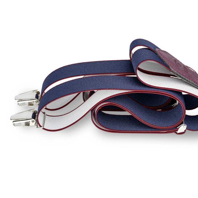 Les Bretelles De LÉON Bretelles Larges Bleu Garonne - Les Bretelles de Léon
