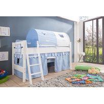 Lit enfant mi hauteur achat lit enfant mi hauteur pas cher soldes rueducommerce - Tente pour lit mi hauteur ...