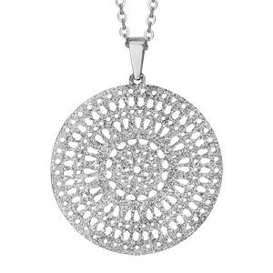 collier homme pendentif rond