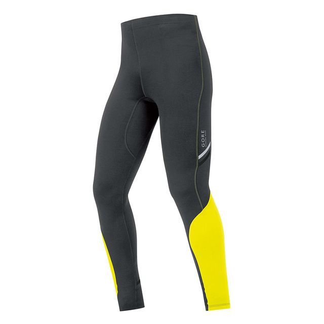 Gore Running Wear Collant long Mythos 2.0 noir jaune néon