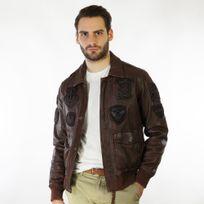 c2b5570e2f51 Blouson cuir homme aviateur - Achat Blouson cuir homme aviateur pas ...