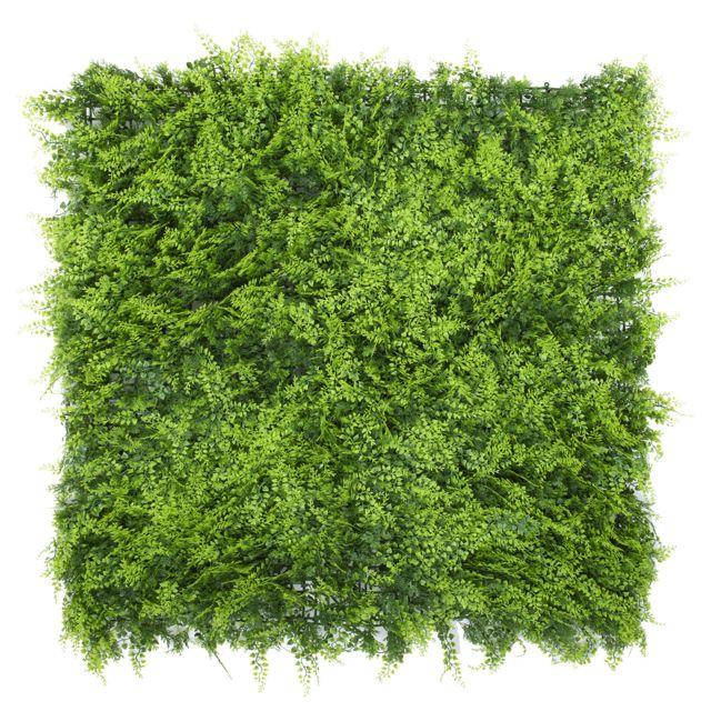 Gazon Du Sud Mur Végétal Artificiel Fougère 1m x 1m