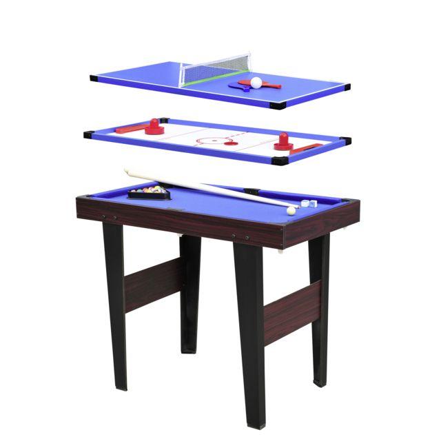 CARREFOUR - Table multijeux 3-en-1