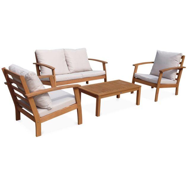 ALICE\'S GARDEN - Salon de jardin en bois 4 places - Ushuaia ...