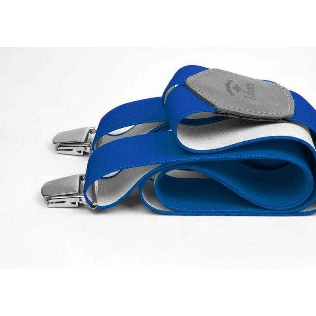 Les Bretelles De LÉON Bretelles Larges Bleu Talentueux - Les Bretelles de Léon