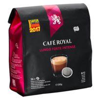 CafÉ Royal - Dosettes souples de café Lungo Forte - Sachet de 36