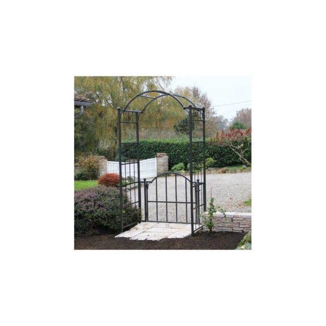 L h ritier du temps arche portillon classic garden portail arche rosiers de jardin en fer - Portail de jardin en fer ...