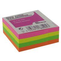 Majuscule First - bloc cube repositionnable neon 76x76mm - bloc de 320 feuilles